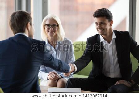 заседание человека женщину кандидат интервью деловая женщина Сток-фото © robuart