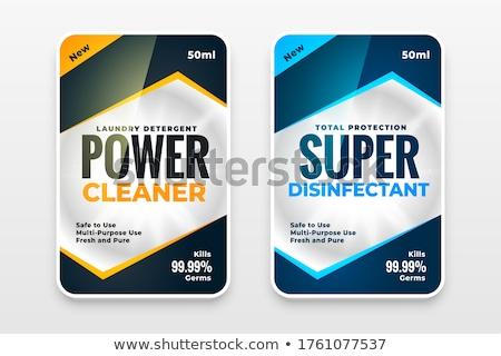 Dezenfektan temizleyici yıkayıcı etiketler şablon dizayn Stok fotoğraf © SArts