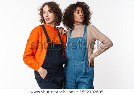 Retrato confundirse multinacional mujeres posando Foto stock © deandrobot