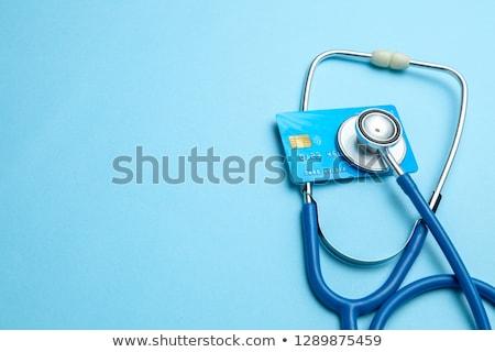stéthoscope · carte · de · crédit · concepts · financière · santé · sécurité - photo stock © johnkwan