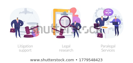Litigation support abstract concept vector illustration. Stock photo © RAStudio