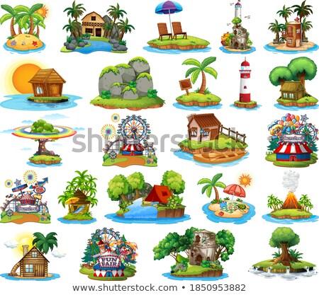 Zestaw inny wyspa plaży rozrywka wesołe miasteczko Zdjęcia stock © bluering