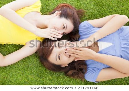 boldog · haverok · nők · nevet · izolált · fehér - stock fotó © nruboc