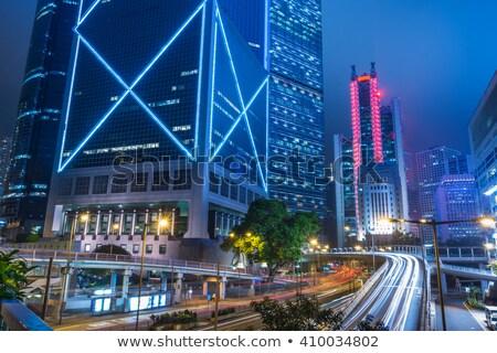 Hong Kong sinal da estrada alto gráfico nuvem Foto stock © kbuntu