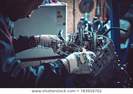 Repairing engine Stock photo © pressmaster