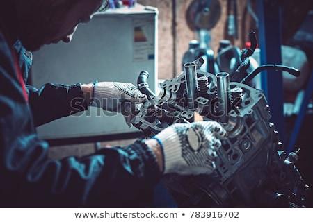 motor · intern · verbranding · geïsoleerd · witte - stockfoto © pressmaster