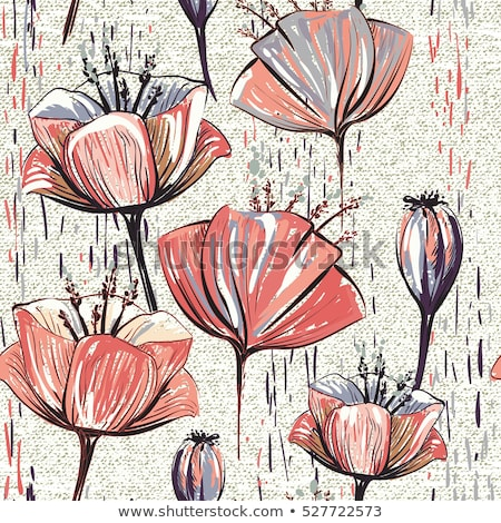 Vertical seamless pattern with tulips Stock photo © nurrka