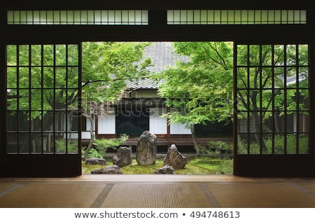 japanese traditional garden in kyoto japan stock photo © travelphotography