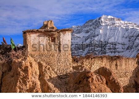 Stockfoto: Zonsondergang · himalayas · vallei · landschap · berg · bergen