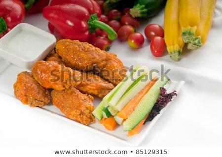 куриные · крыльями · служивший · классический · свежие · овощей - Сток-фото © keko64