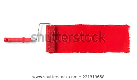 Stock photo: paint roller red