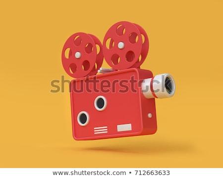 3D film néz 3d szemüveg gyerekek mozi Stock fotó © mintymilk