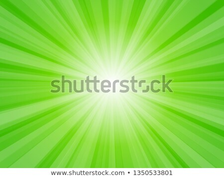 Stock photo: Green Background With Sunburst