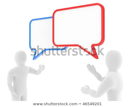 Two persons talk, carry on negotiations  Stock photo © dacasdo