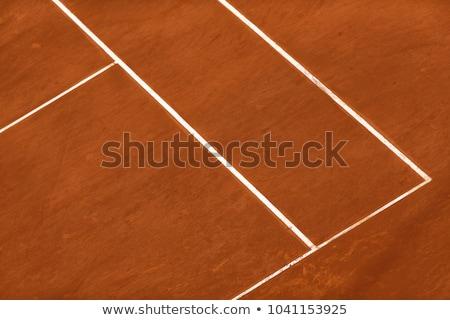 Absztrakt textúra teniszpálya agyag sport háttér Stock fotó © HASLOO