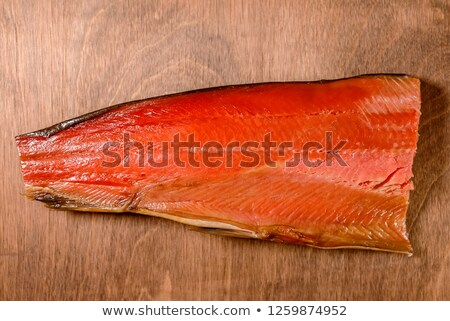 huge red meat chunk on wooden table  Stock photo © inxti