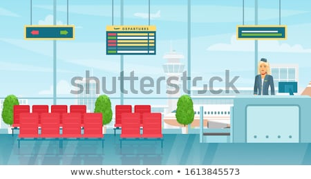 airport hostess at registration desk stock photo © photography33