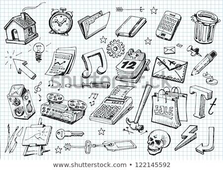 Mappa kéz kurzor illusztráció üzlet terv Stock fotó © pkdinkar