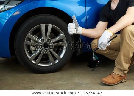 mecánico · rueda · moderna · coche · color · invierno - foto stock © lightpoet