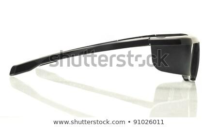 Stereo 3D TV: side view active shutter glasses Stock photo © Arsgera