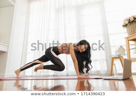 Sportok fitnessz vektor nő test szépség Stock fotó © yura_fx