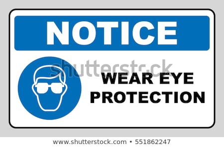 Stock photo: Blue vector notice signs