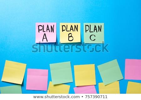Plan kontrol kutuları tahta çapraz arka plan Stok fotoğraf © bbbar