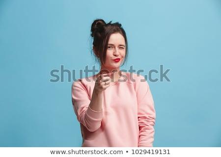 kurumsal · kadın · bakıyor · gözlük · önemli - stok fotoğraf © stockyimages