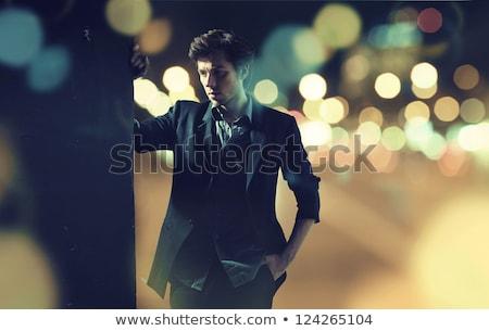 divat · stílus · portré · jóképű · férfi - stock fotó © danielkrol