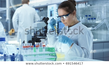 female scientist with a test tube Stock photo © photography33