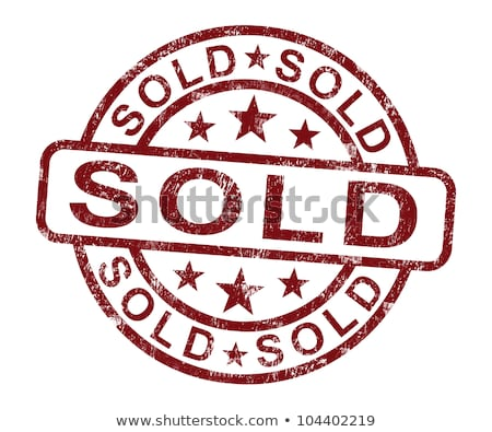 Foto stock: Sold Stamp Showing Selling Or Purchasing