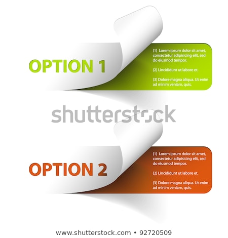 set of colorful vector sample option stickers stock photo © orson