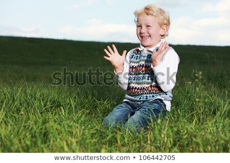 Little boy clapping his hands in glee stock photo © foto-fine-art