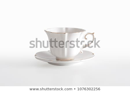 koffie · pot · beker · geïsoleerd · witte · cake - stockfoto © witthaya