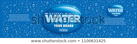 Adesivo gota de água isolado branco computador projeto Foto stock © barbaliss