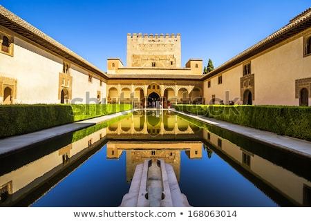 Alhambra İspanya şehir mimari beyaz model Stok fotoğraf © neirfy