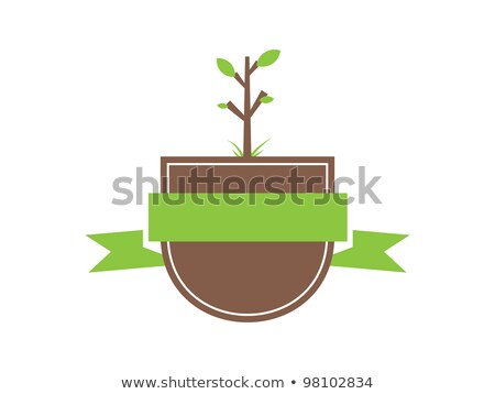 gardening shield with banners stock photo © sifis
