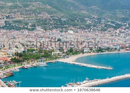 Турция · пляж · мнение · город · деревья · синий - Сток-фото © ia_64