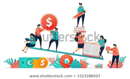 oktatás · iskola · tandíj · emelkedő · érettségi · magasság - stock fotó © devon