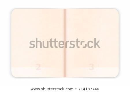 nyitva · útlevél · oldalak · különböző · bevándorlás · bélyegek - stock fotó © luapvision