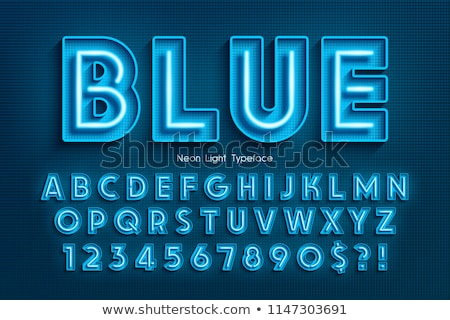 Vector Alphabet Letters in Blue Boxes Stock photo © liliwhite