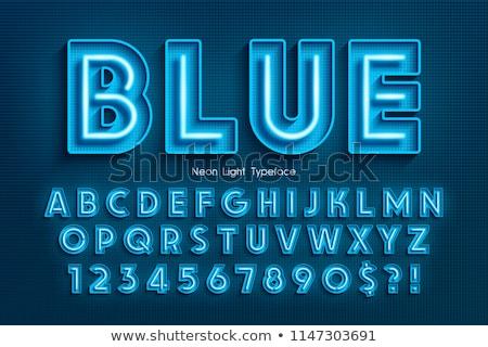 Vektör alfabe harfler mavi kutuları arka plan Stok fotoğraf © liliwhite