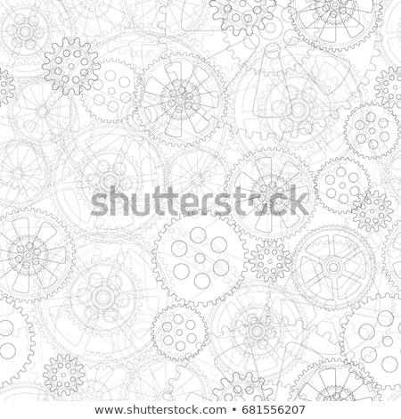 銀 · 歯車 · 白 · デザイン · 金属 - ストックフォト © fixer00