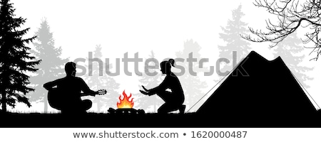 Couple staying in a campsite Stock photo © photography33