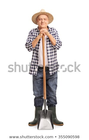 man holding spade stock photo © photography33