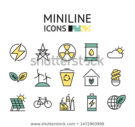 abstract green eco icons  Stock photo © pathakdesigner