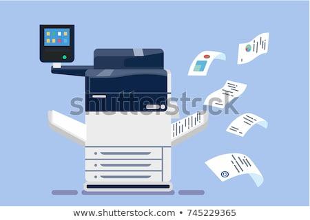 impresora · equipo · oficina · arte · ninas · retrato - foto stock © ozaiachin