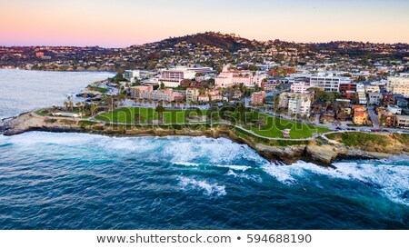 San · Diego · Californie · Skyline · nuit · eau · ville - photo stock © photohome