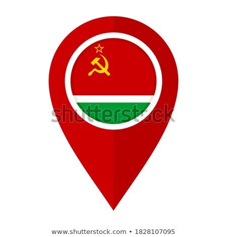 Szovjet köztársaság bélyeg zászló térkép papír Stock fotó © perysty