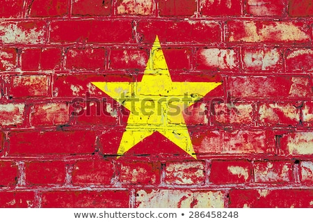 Flag of Vietnam on brick wall Stock photo © creisinger
